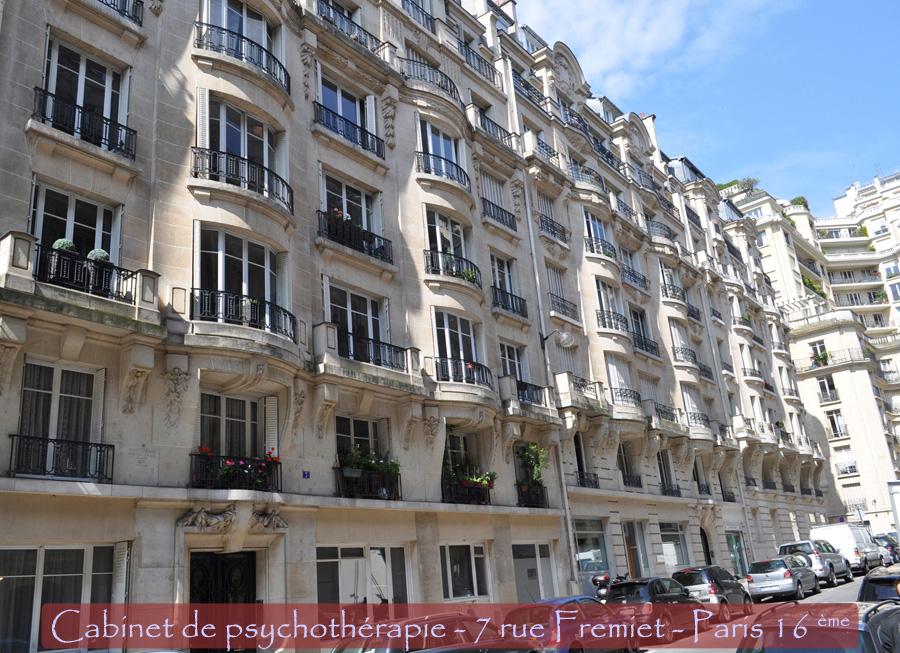 Théodore-Yves Nassé - Cabinet de psychothérapie - 7 rue Fremiet Paris 16 ème